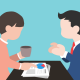 dos personas hablando es hablar en público
